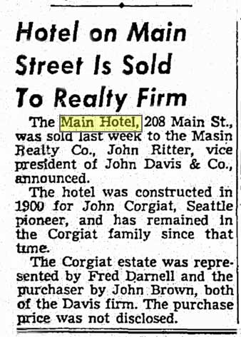 A clip from The Seattle Times on Nov. 21, 1954.