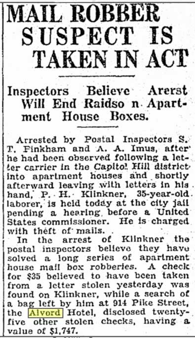 Sprinkled throughout most hotel and apartment house histories are true crime stories of many sorts. This one was published in The Times for July 23, 1930.