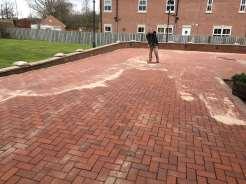 Block Paved Driveway Sanding