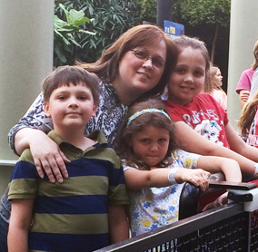 Mom and kids at MOA