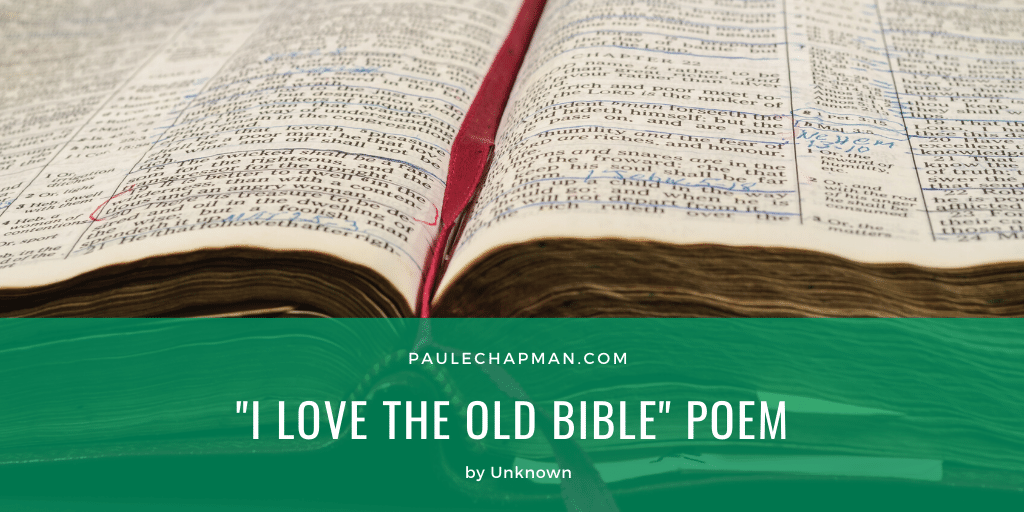 I Love The Old Bible – Christian Poem