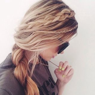 Mix up different thicknesses of braid
