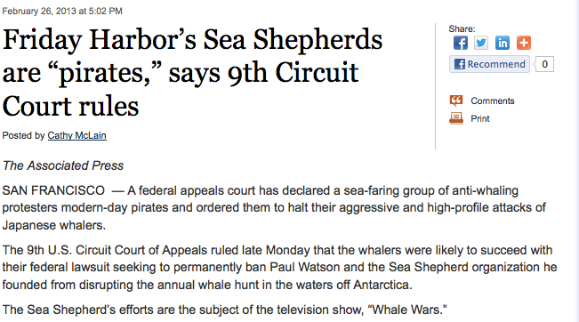 Click on the image to get to the story at https://blogs.seattletimes.com/today/2013/02/friday-harbors-sea-shepherds-are-pirates-says-9th-circuit-court-rules/