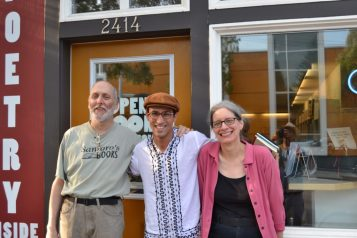 Habib with John Marshall and Christine Deavel of Open Books
