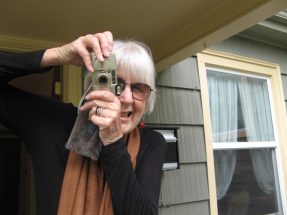 Joanne Kyger at CPF2 (photo by George Bowering)