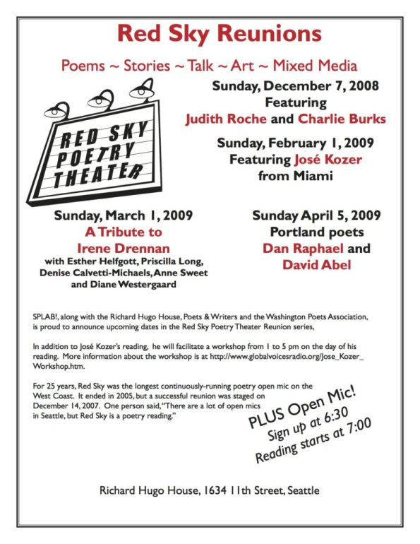 Red Sky 2008 & 2009 Reunion Flyer