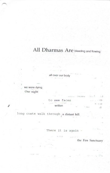 All Dharmas Are Bleeding and Flowing