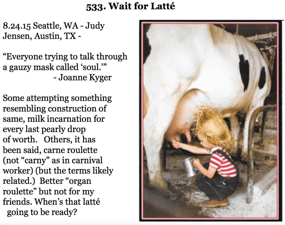 533. Wait for Latté