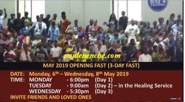 Dunamis May Fasting announcement