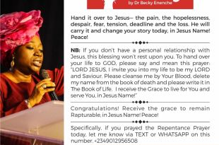 DAILY BLESSINGS DR BECKY PAUL ENENCHE MESSAGES
