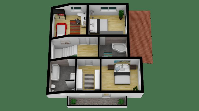 Vila Smart 3D Mansarda 1_Tilt