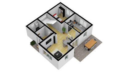 Vila Smart 3D Parter (Bedroom) 3_SE