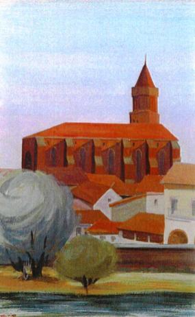 Église St Nicolas depuis le pont St Pierre - Toulouse 31