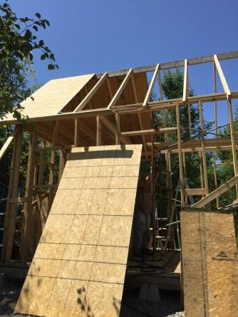 Tiny Cabin Roof Panels in Progress