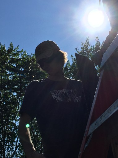 Roofing Day - Geoffrey with the hot sun