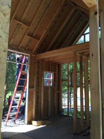 Roofing Day - Inside Tiny Cabin