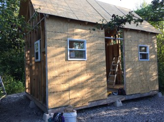 Tiny Cabin Roofing Day - 730 am