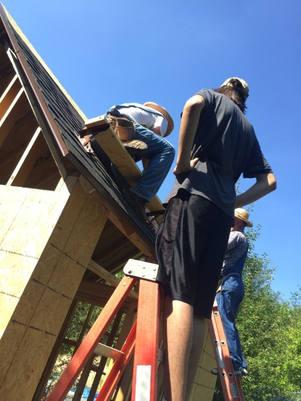 Tiny Cabin Roofing - Geoffrey Supervising