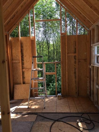 Tiny cabin side wall
