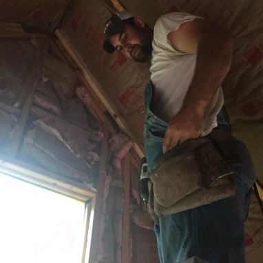 Scott Insulating Tiny Cabin Ceiling