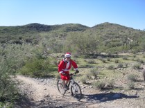 Never know who you might run into on the trail. It was Christmas Eve afterall.