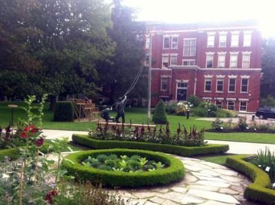 Garden at the Festival Theatre. .