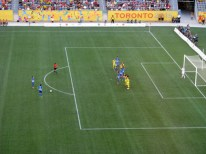 Free kick before second goal