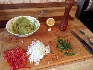 Getting everything ready - guacamole