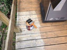Painting the deck Before and after