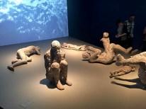 Pompeii Exhibit: Casts if people remains