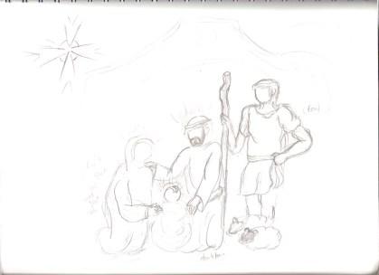 Original Drawings for my Nativity Scene