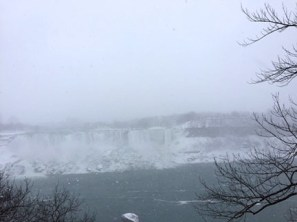 Niagara Falls during the winter storm.