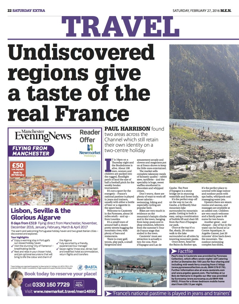 South of France, Manchester Evening News, February 2016