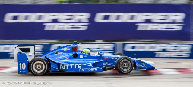Tony Kanaan gets some air