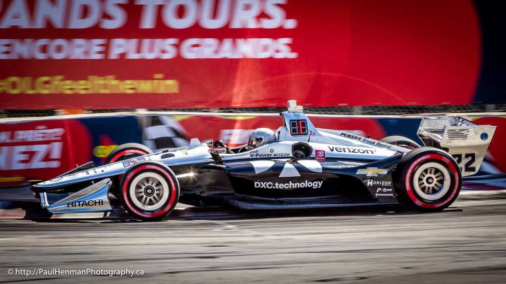Simon Pagenaud in Turn 8