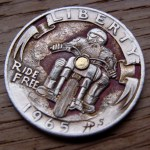 'Ride Free' clad coin 1965 Washington quarter $ carving 4