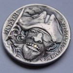 'The Captain' Hobo nickel carving 3A