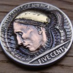 'Wizard from Outer Space' Hobo nickel carving 3