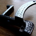 Engraved steel oldschool 'Sailor Jerry' styled tattoo machine frame 2b
