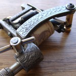 Engraved steel oldschool 'Sailor Jerry' styled tattoo machine frame 8 recoiled & mounted