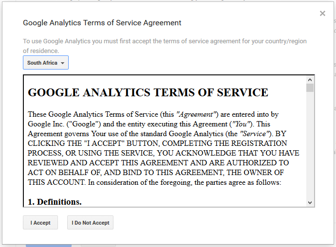 Google Analytics Terms and Conditions