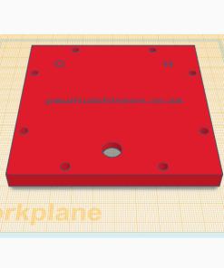 HHO generator back plate