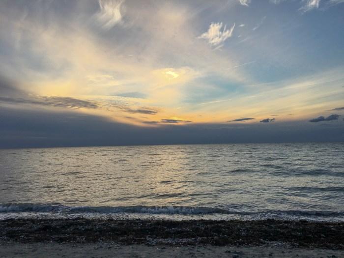 Sonnenuntergang am Strand von Wallnau