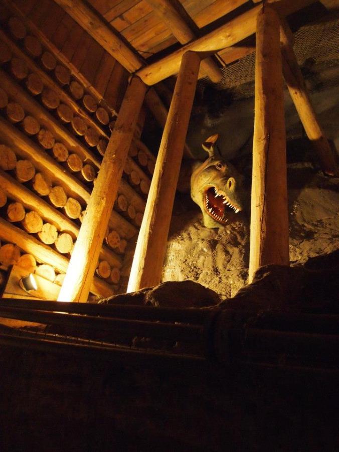 Interior de las minas de sal de Wieliczka en Polonia