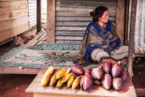 Eleganz auf dem Markt in Muang Kasi