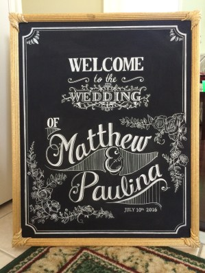 Wedding Sign- Complete