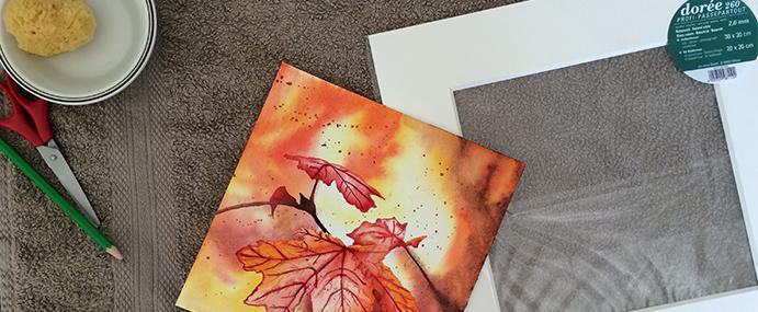 Encadrer-une-aquarelle