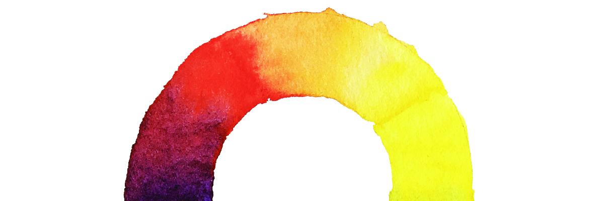 couleurs aquarelles chaudes