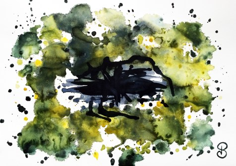 Aquarelles abstraites Mind - Black Hole