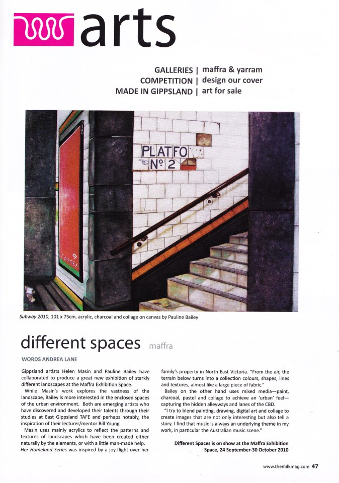 Milk Magazine article September 2010
